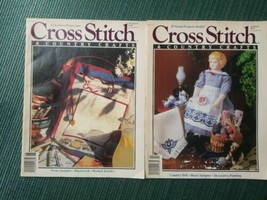 Lot Of 2 Vintage Cross Stitch And Country Crafts Magazines  from 1991 - $11.95