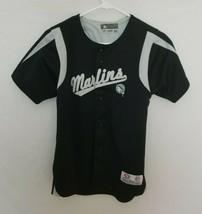 Florida Marlins Youth Medium Stitched Jersey MLB Baseball Black Miami Ol... - $14.99