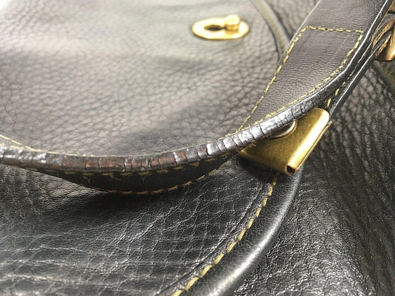 Fossil Vintage Black Pebbled Leather Crossbody Shoulder Bag – Well Worn