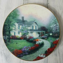 Home Sweet Home Plate Thomas Kinkade Home Is Where The Heart Is 1st Issue - $9.69