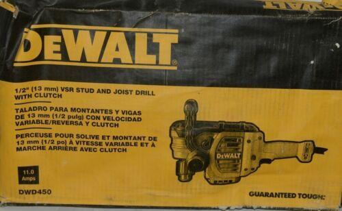 DeWALT DWD450 13 mm VSR Stud Joist Drill with Clutch 11 Amps CORDED