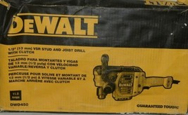 De Walt DWD450 13 Mm Vsr Stud Joist Drill With Clutch 11 Amps Corded - $289.99
