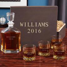 Personalized Buckman Whiskey Glass Wood Gift Box Set - $149.95