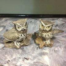 VINTAGE PAIR OF HOMCO CERAMIC OWLS - $4.99