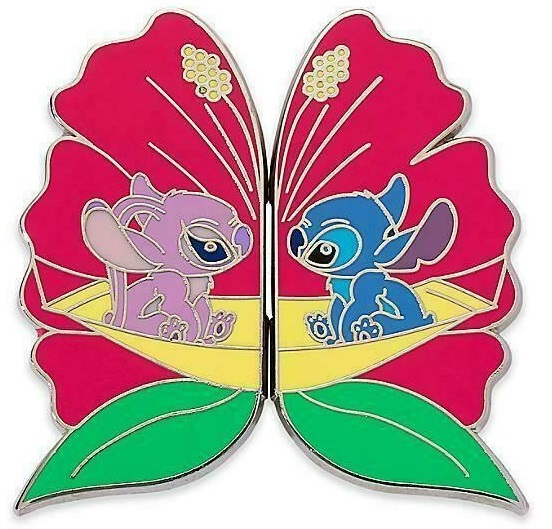 Disney Lilo & Stitch Disney Store  Valentines Stitch and Angel 2 Pin Set  - $16.34
