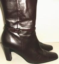 Women's Brown Mid Calf Zip Boots Size 7.5 M - $14.00