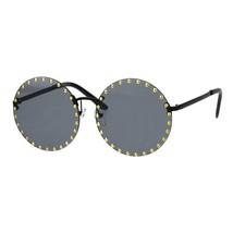 Studded Round Rimless Sunglasses Womens Punk Studs Fashion UV 400 - $12.95