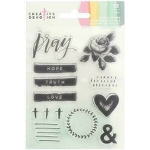 Creative Devotion Pray Acrylic Stamp Set - Great for Bible Journaling!