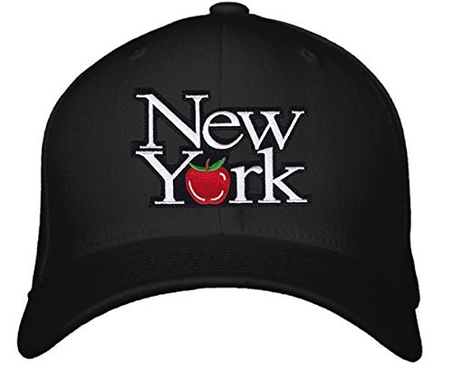 New York Hat - Adjustable Mens Black - The Big Apple Cap