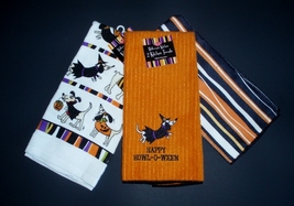 3 Theme matching Dachshund Halloween Towels by Ritz - $22.50
