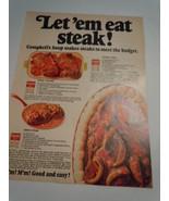 Vintage Campbell's Soup Let'em Eat Steak Print Magazine Advertisement 1968  - $5.99