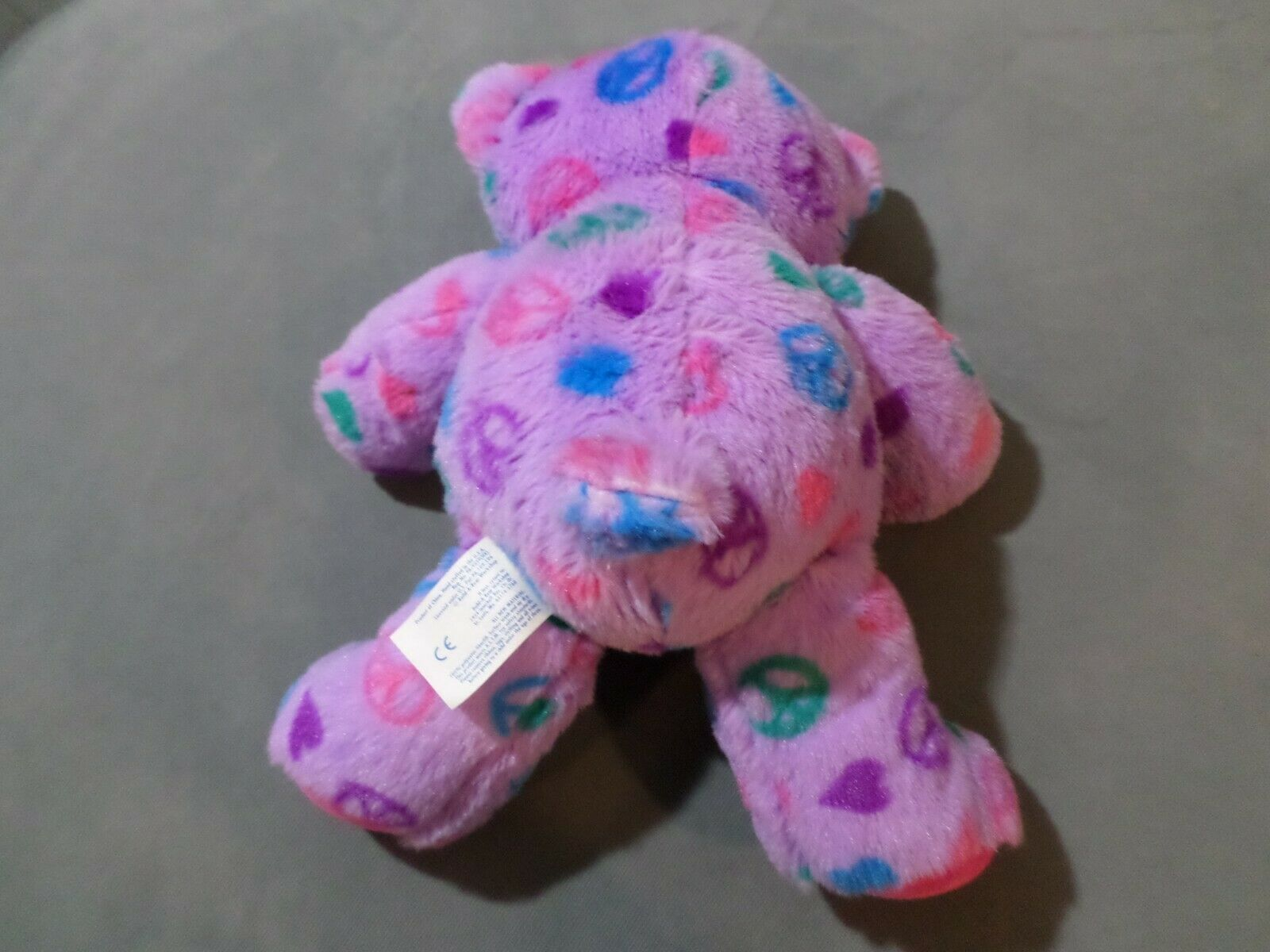 Build A Bear Peace and Heart Love Purple Easter Plush Doll