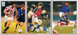 GAMBIA 1996 FOOTBALL EURO CUP x3 S/S MNH CV$17.00 SPORTS (LOT 1) - $3.47