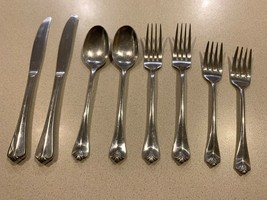 Royal Gallery 'Marquis' Lot Of 8 Stainless Flatware Korea 8 Pcs Knife Spoon Fork - $49.49