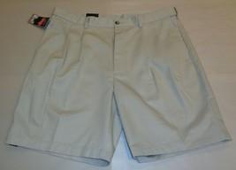 Roundtree & Yorke Size 46 EXPANDER WAISTBAND String Pleated New Mens Shorts - $37.25