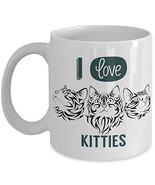 I Love Kitties Coffee Mug - Funny Cat Cup - Novelty Mug, Gift idea for C... - $14.95+