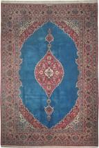 Fine Signed 8x12 Kashan Persian Rug  BLUE - $3,566.25