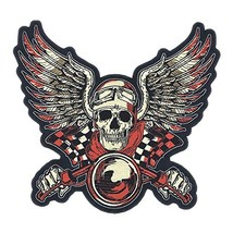 "GodEagle 11""Wx10""H Skull Punk Rocker Rider Motorcycle Biker Patches Name... - $38.29"