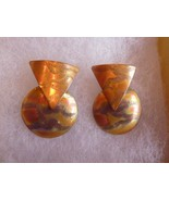 Artisan Dangle Post Earrings Mixed Metals Modernist - $21.56