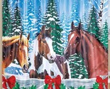 Christmas gift horse shower curtain close thumb155 crop
