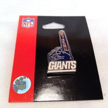 NEW Aminco Certified NFL NY Giants Earring/Necklace/Pin Jewelry Set image 4