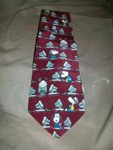 P EAN Uts Charles Schulz Silk Tie Necktie Snoopy Computer Genius - $14.84