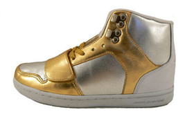 Creative Recreation Womens Gold Silver Cesario Hi Top Gym Shoes Sneakers 6US NIB image 1