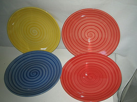 """4-pc set Tabletops Unlimited Swirl Salad Plate 8 1/2"""" More available - $22.99"""