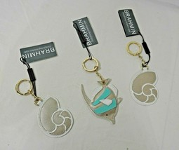 NWT Rare Brahmin Angel Fish OR Nautilus Shell Key-ring/Fob in Leather an... - $44.00+