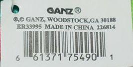 GANZ Brand Multi Color Chevron Monogram D Coin Purse With Green Polka Dot Bow image 4