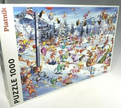 Piatnik Jigsaw Puzzle Christmas Skiing Ski Francois Ruyer 1000 pieces se... - $34.99