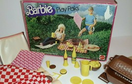 1982 Vintage Barbie Play Paks Picnic Set in the Box Accessories Near Com... - $19.80