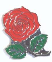 Red English Rose Flower Metal Enamel Badge Lapel /tie Pin Badge 3d effect