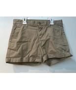 Khakis by GAP Girlfriend 4 Inch Short Tan Size 2 Cuffed Hem Shorts - $12.95