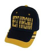 West Virginia Window Shade Font Men's Adjustable Baseball Cap (Navy/Gold) - $12.95