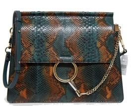 New $3750 Chloe Green Hand Painted Pattern Python Medium Faye Bag - $2,546.04