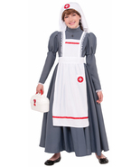 Girls Civil War Nurse Costume Florence Nightingale Large 12-14 77759 - $38.88