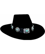 Bullhide Iroquois Wool Cowgirl Hat Wide Brim Silver And Turquoise Concho... - €71,85 EUR