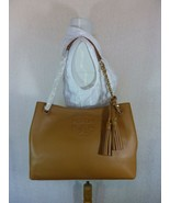 NWT Tory Burch Bark Brown Pebbled Leather Thea Chain Slouchy Tote $495 - $443.52