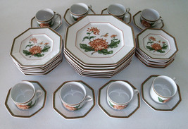 Fitz & Floyd Chrysantheme 40 Piece Dinnerware Set - $399.99