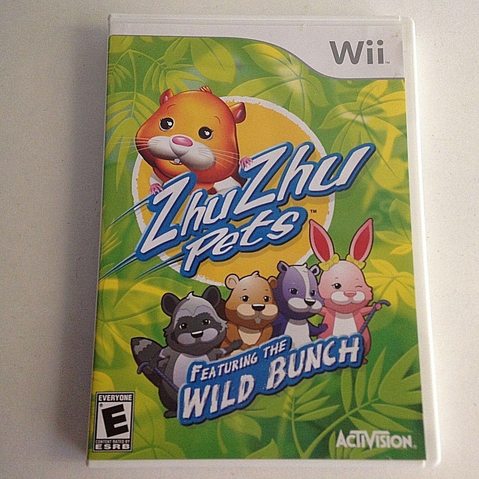Zhu Zhu Pets Game: Featuring the Wild Bunch (Nintendo Wii, 2010)
