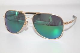 Oakley Elmont M Sunglasses OO4119-0358 Satin Gold Frame W/ Jade Iridium ... - $69.29
