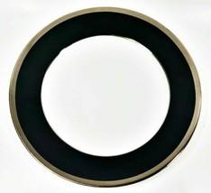 Haviland Limoges Laque De Chine Platino Borde - Noir Ensalada / Plato - $32.69