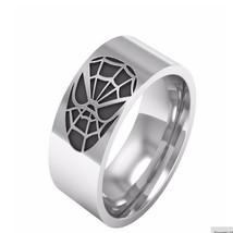 10mm Men Spiderman Stainless Steel Ring Comfort Fit Wedding Engagement R... - $249,42 MXN