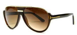 Tom Ford TF334 04P Brown Havana Gradient Lens Sunglasses 59mm New Genuine - $164.85