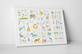 Kids Animal Alphabet Children Kids Wall Art Gallery Wrapped Canvas Print - $44.50+