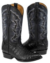 Mens Smooth Genuine Crocodile Belly Skin Leather Cowboy Boots Western J Toe - $284.99