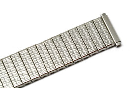 Mens Speidel nos 15-21mm Stainless Steel Twist O Flex Expansion Watch Ba... - $11.87