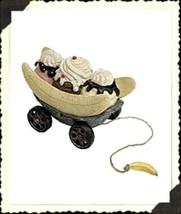 "Boyds Pull Toy ""Banana Boat Tug Along"" Resin  -#654253 - Retired - $29.99"
