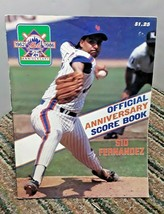 1986 New York Mets Official Score Book against Dodgers Sid Fernandez cover - $7.91